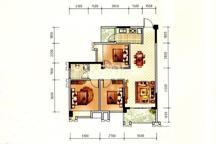 东峰国际公寓户型图