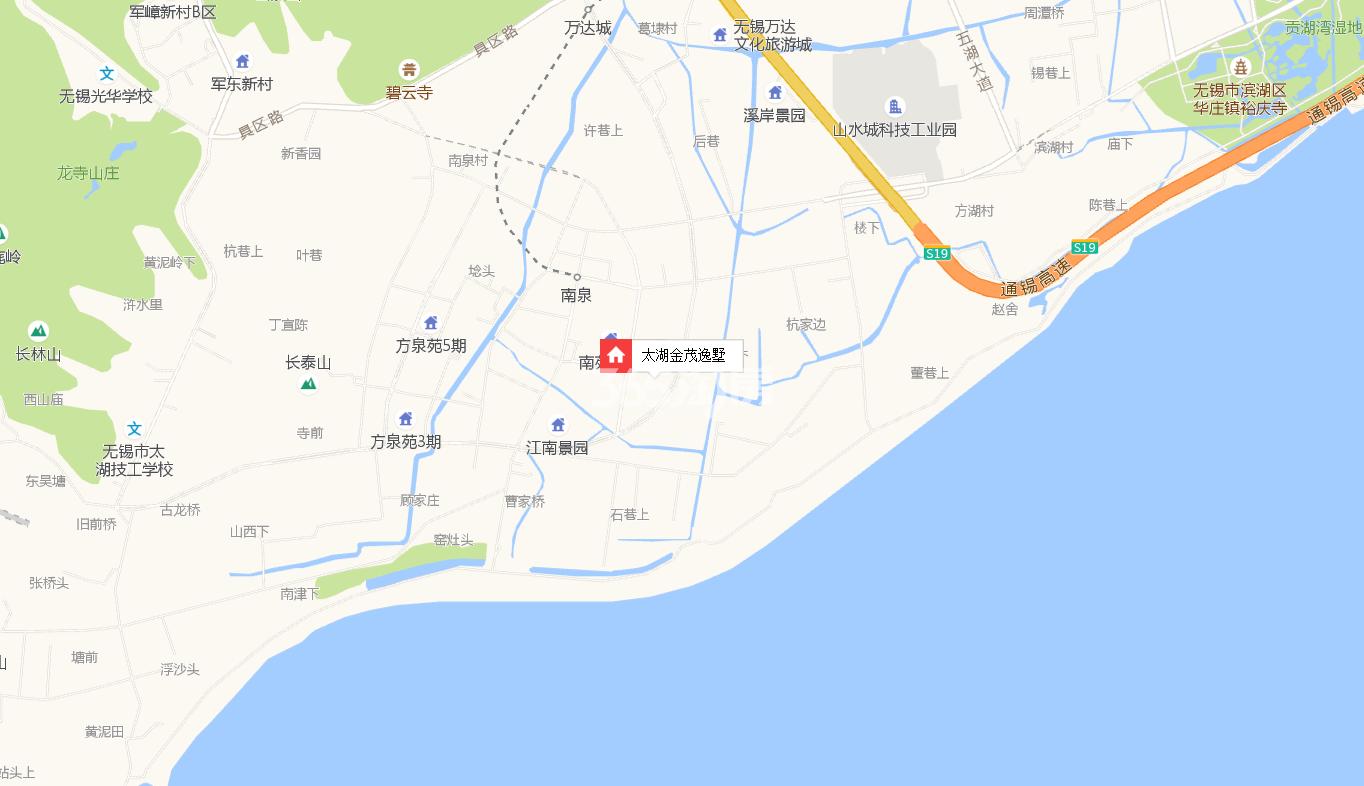太湖金茂逸墅交通图