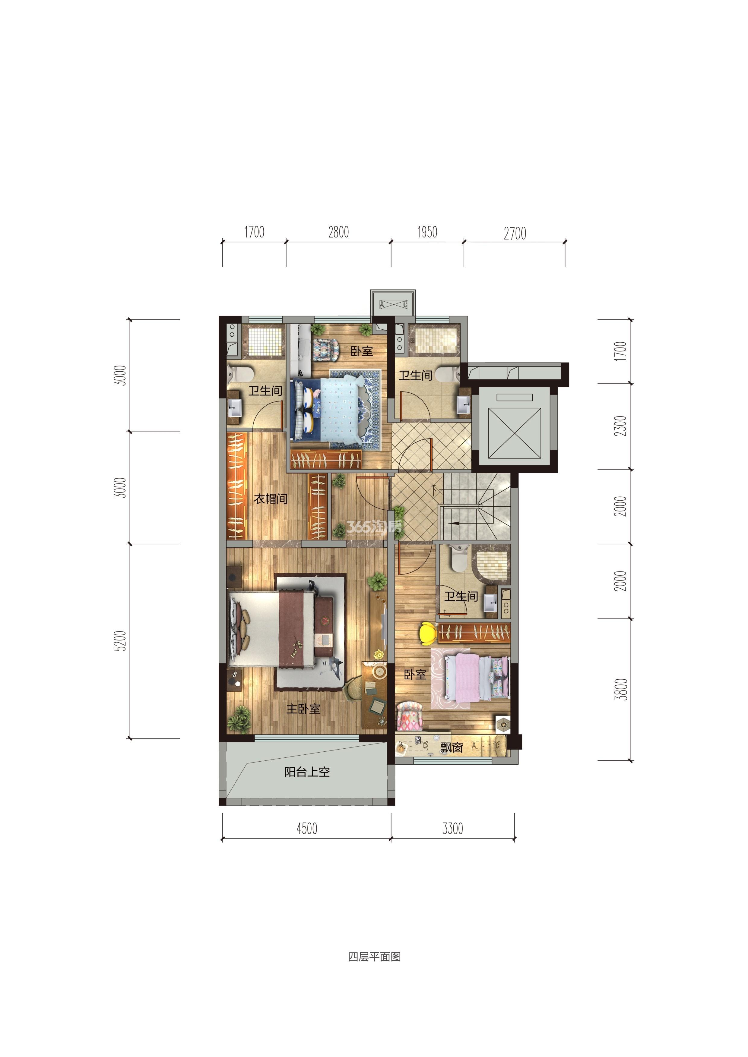 碧桂园香湖湾1号项目157-194㎡中叠(二楼)户型图