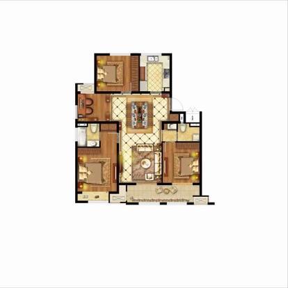 融创御园4室2厅2卫129平米毛坯产权房2018年建