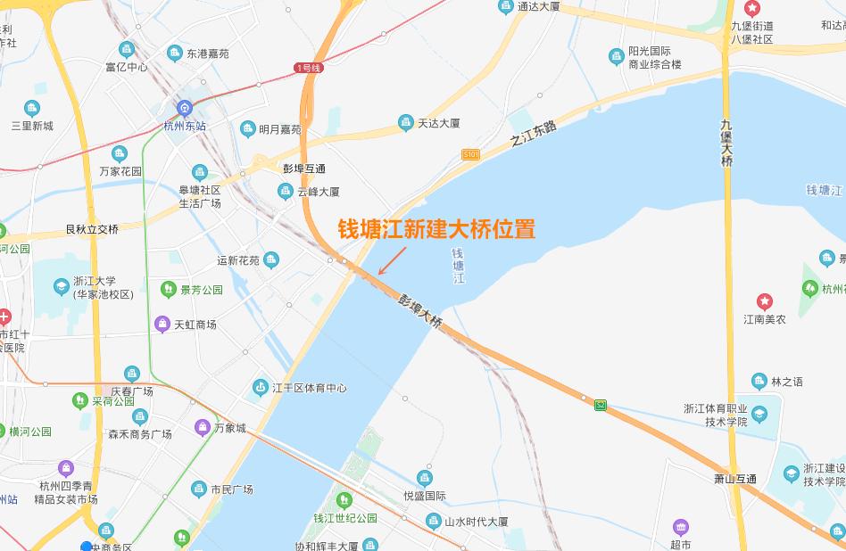 钱塘江新建大桥将提升城市能级 改善城市内部交通