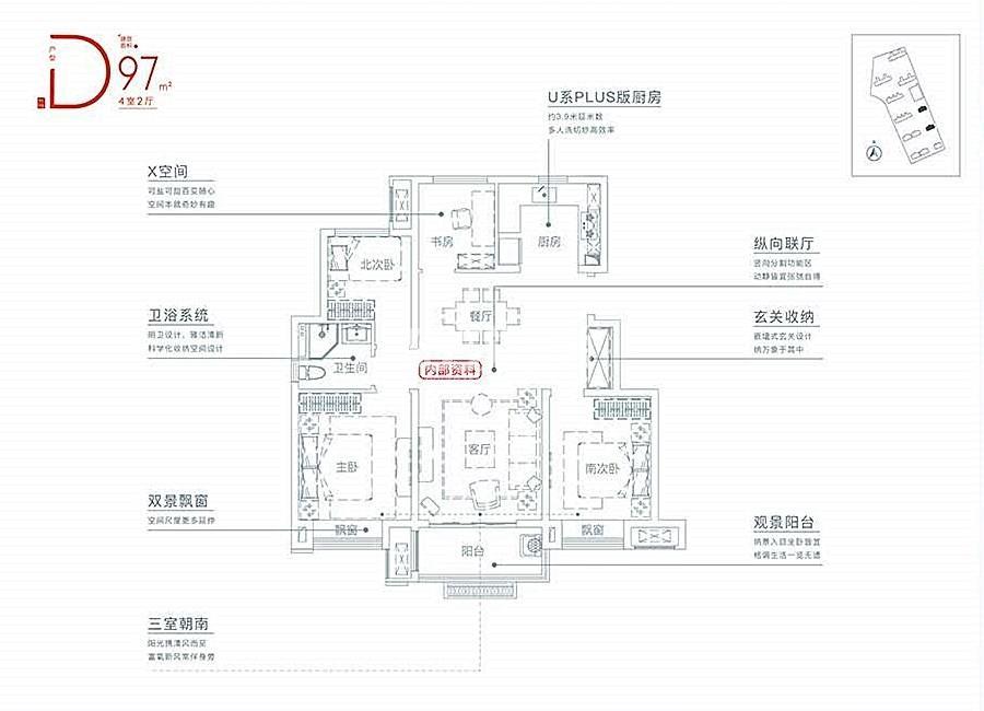 学林雅苑Y1#/Y3#低密度多层97㎡户型