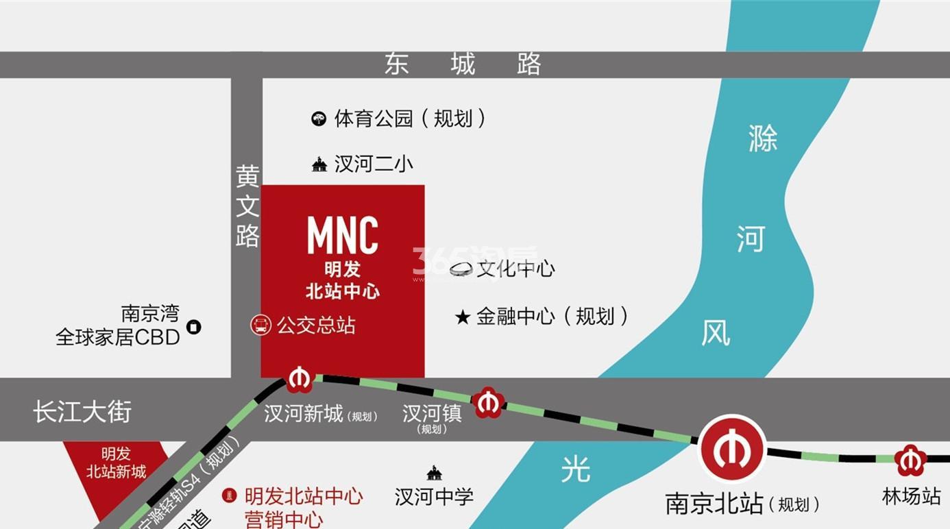 明发北站中心交通图