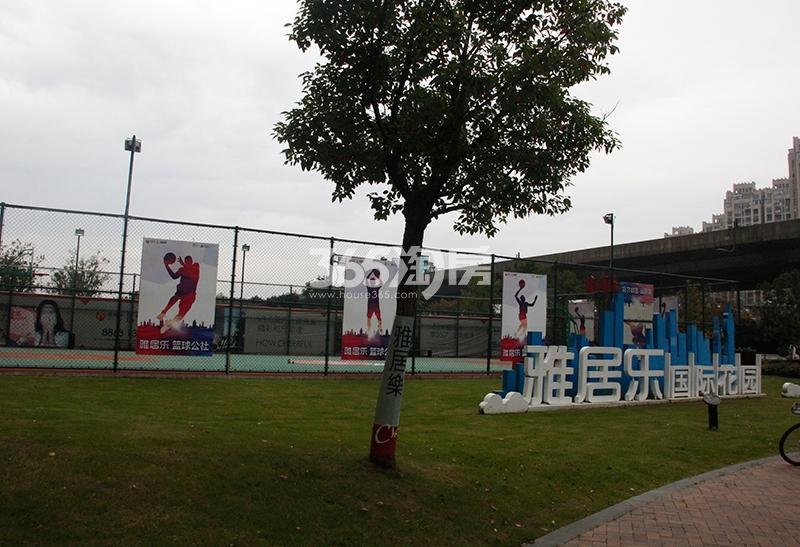 雅居乐国际花园篮球场实景图(2017.11)