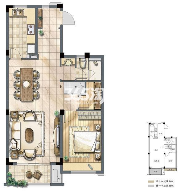 建发独墅湾B2户型三层