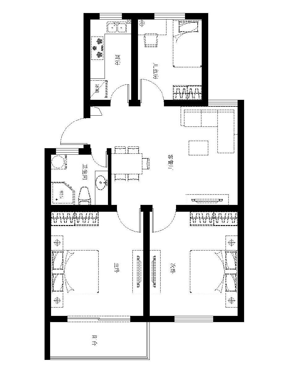 六合峨嵋苑3室85平方产权房急售