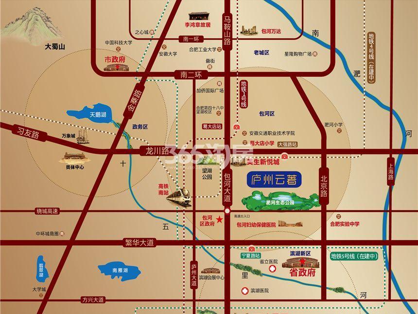 金辉庐州云著交通图