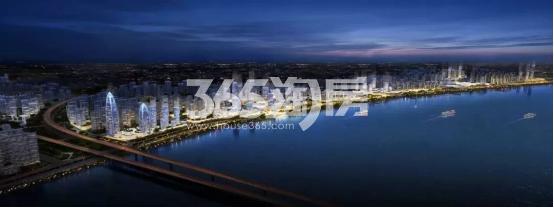之江东路沿江景观带效果图