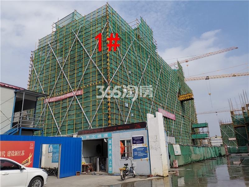 绿地理想城悦湖公馆在建1#楼实景图(10.16)