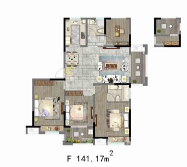 天悦容城3室2厅2卫118.65平米