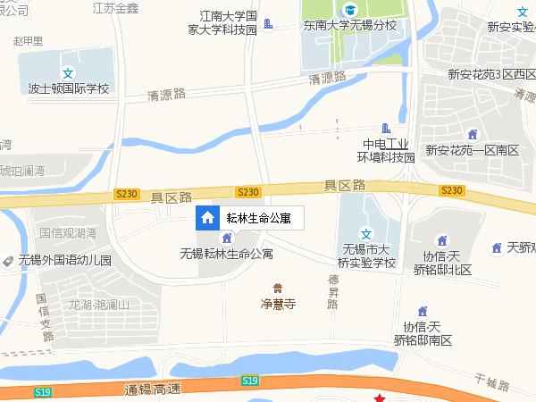 耘林生命公寓交通图