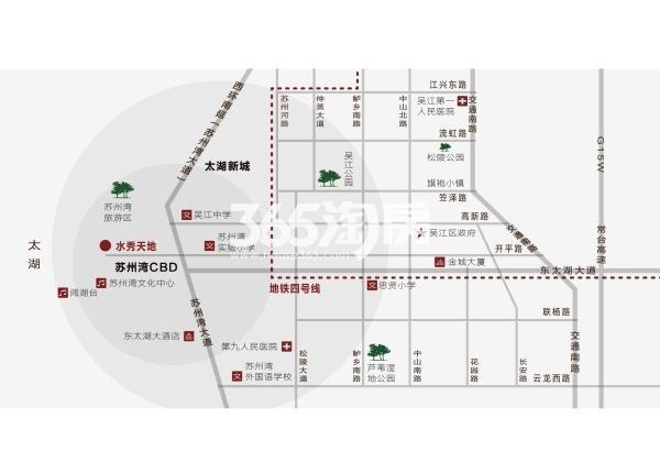 苏州湾水秀天地交通图