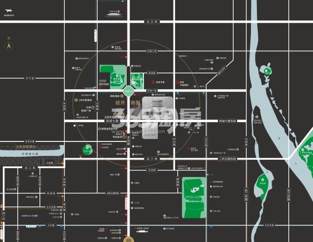 龙湖景粼天序交通图