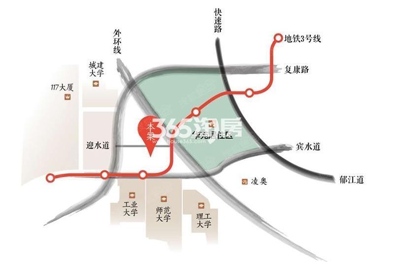格调松间交通图