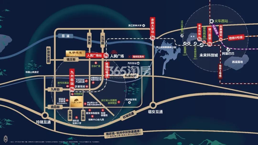 云锦玖晟府交通图