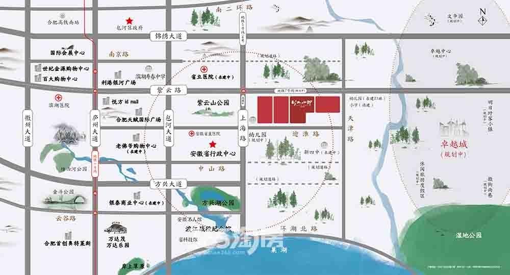 紫云赋江山印交通图