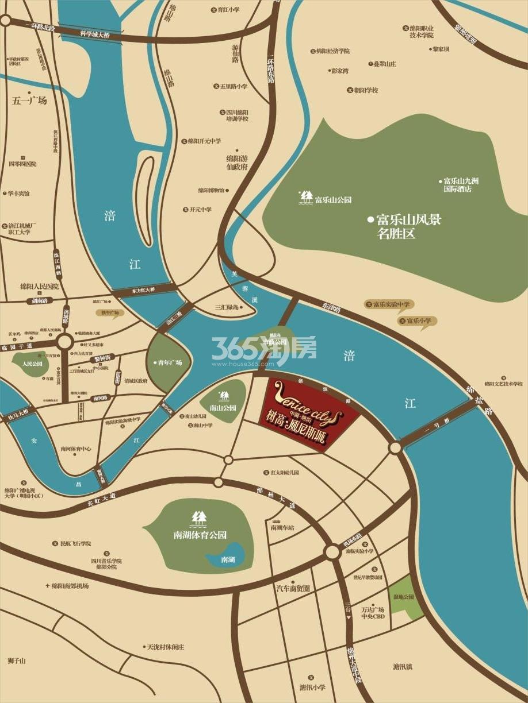 树高威尼斯城·商铺交通图