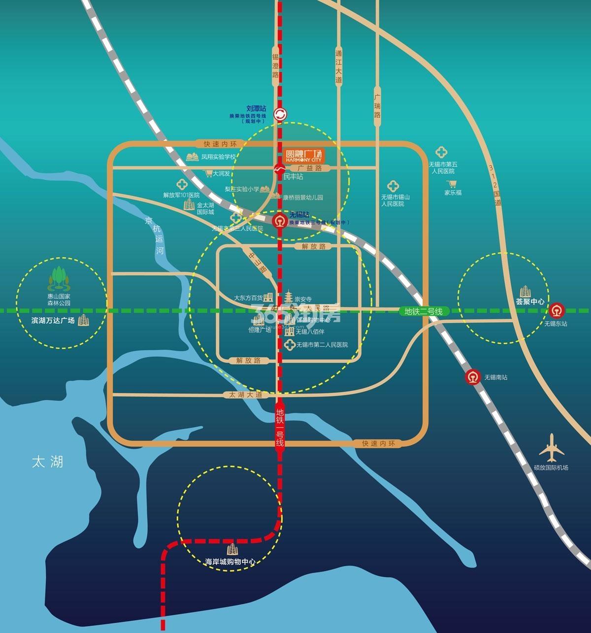 圆融广场交通图