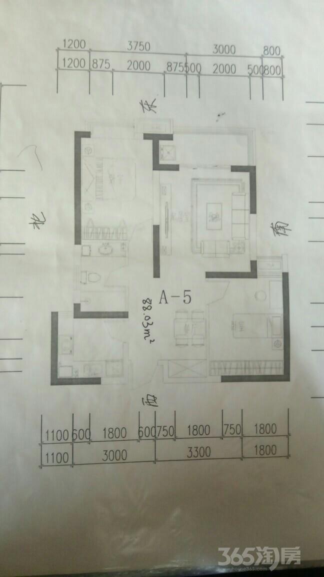 瑞丰园2室2厅1卫80.03平米2017年产权房毛坯