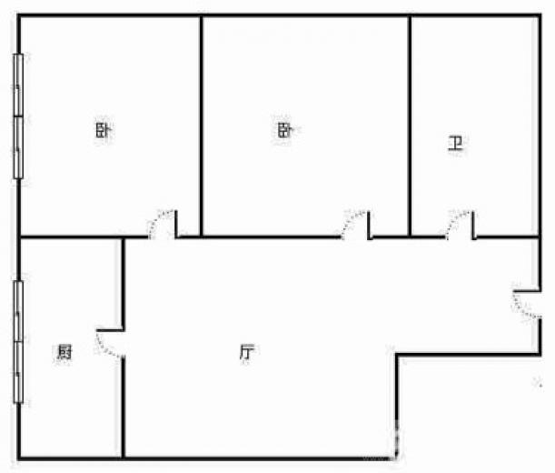 丽景宛2室1厅1卫56平米精装产权房2005年建