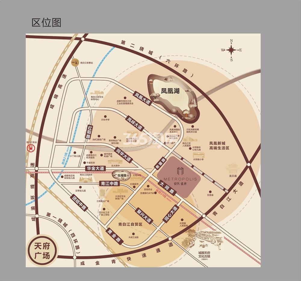 新城悦隽盛世交通图