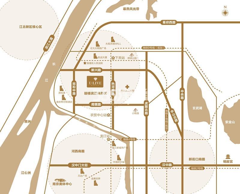 中海滨江U-LIVE交通图