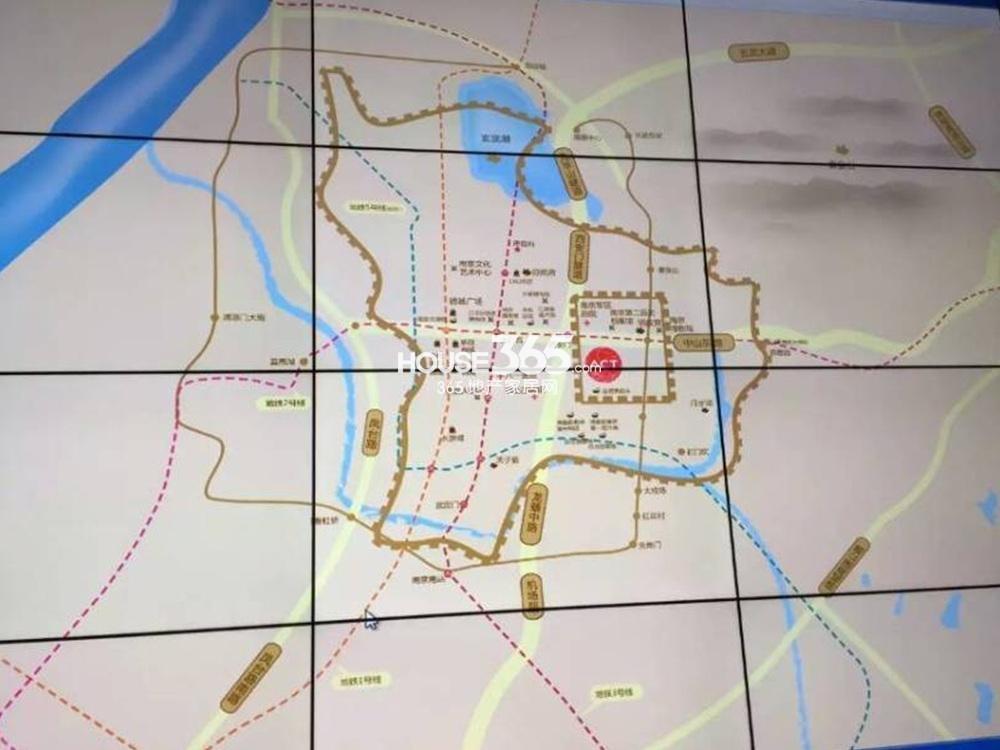 中航科技城(住宅:中航金城1号)交通图