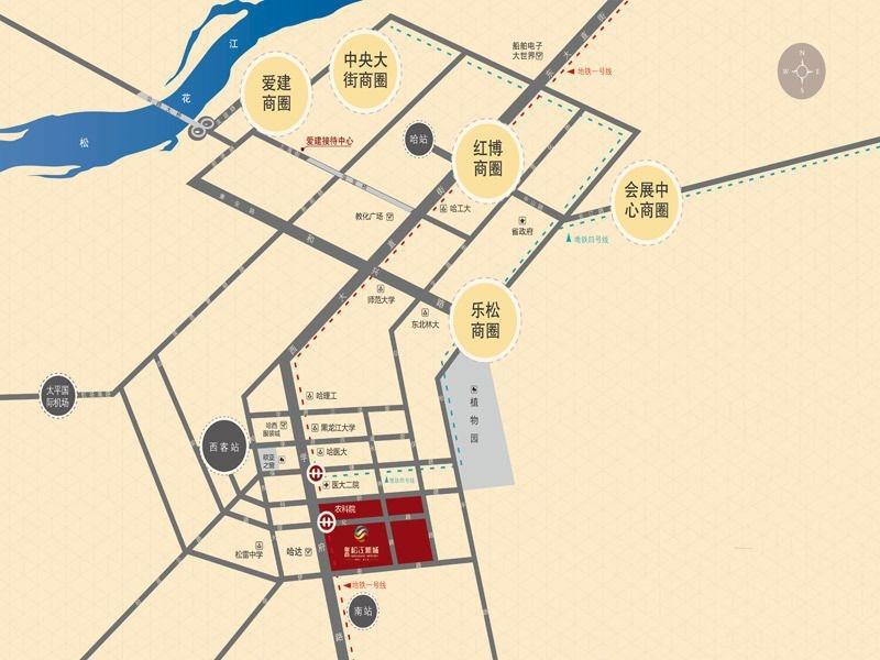鲁商松江新城交通图