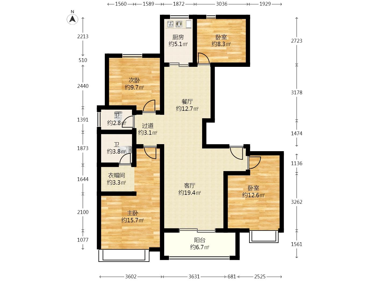 铂悦金陵4室2厅2卫145平米豪华装产权房2018年建
