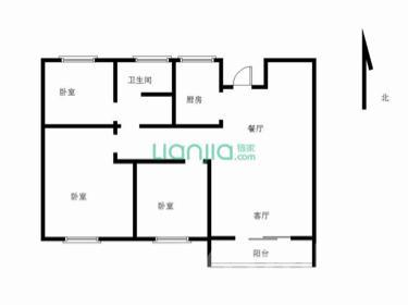 远洋心里3室2厅1卫88平米毛坯产权房2018年建