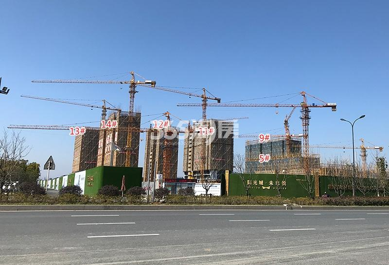 阳光城未来悦项目整体施工进程图(2018.3)