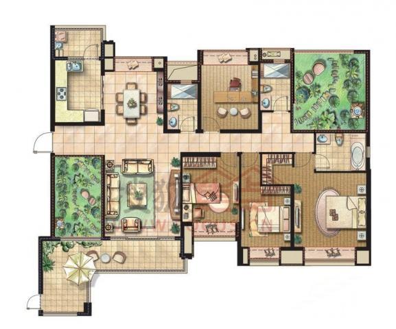 合景领峰平层6居室 出门地铁口 对面华润万家 生活便利 看房