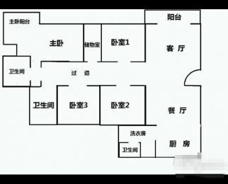 梦园小区4室2厅3卫192平米2004年产权房毛坯