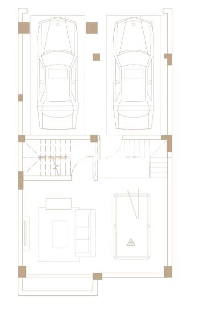 205平户型, 联排别墅-地下