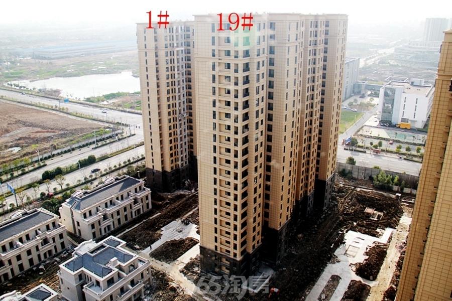 柏庄香府1#、19#楼均已封顶(2018.3摄)