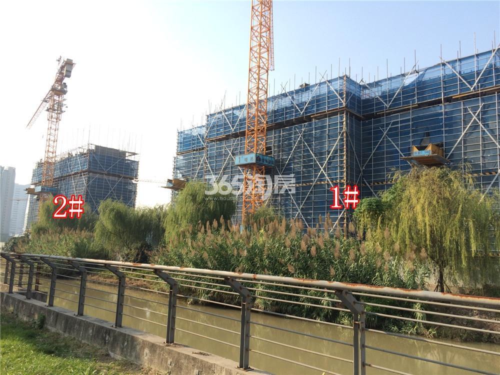 绿地华侨城海珀滨江1、2#实景图(10.27)