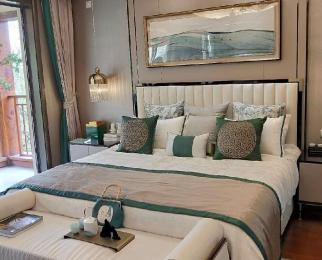 江北新区汊河新城北白鹭岛温泉度假别墅送花园300客厅6米6