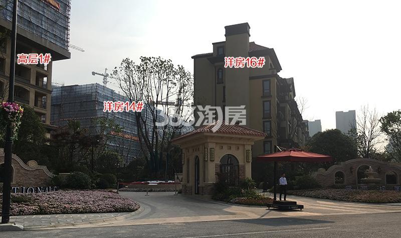 中国铁建西湖国际城1、14、16号楼施工进程(2018.4)
