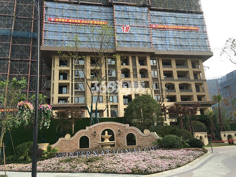 中国铁建西湖国际城高层1号楼施工进程(2018.4)