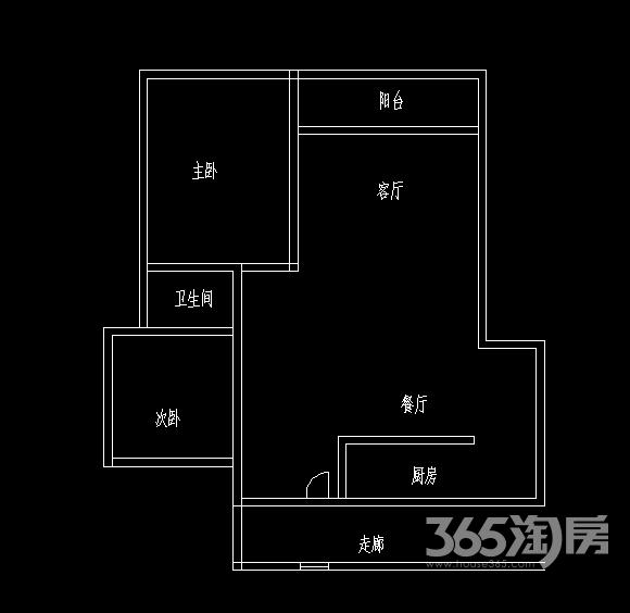 中海万锦熙岸2室2厅1卫92平方产权房精装