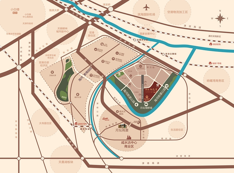 世茂璀璨公园交通图