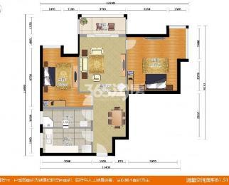 紫金南苑2室2厅1卫102平米豪华装产权房2014年建