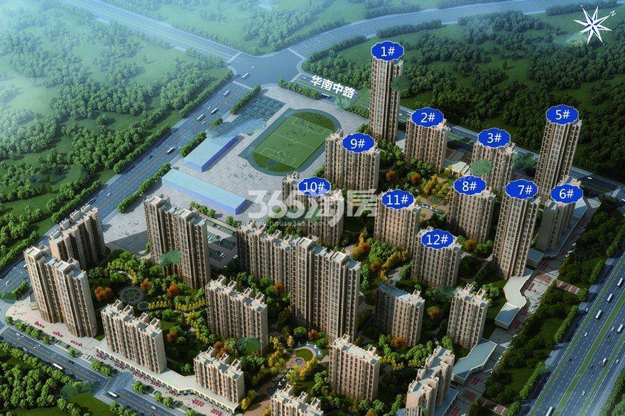 华南城紫荆名都鸟瞰图