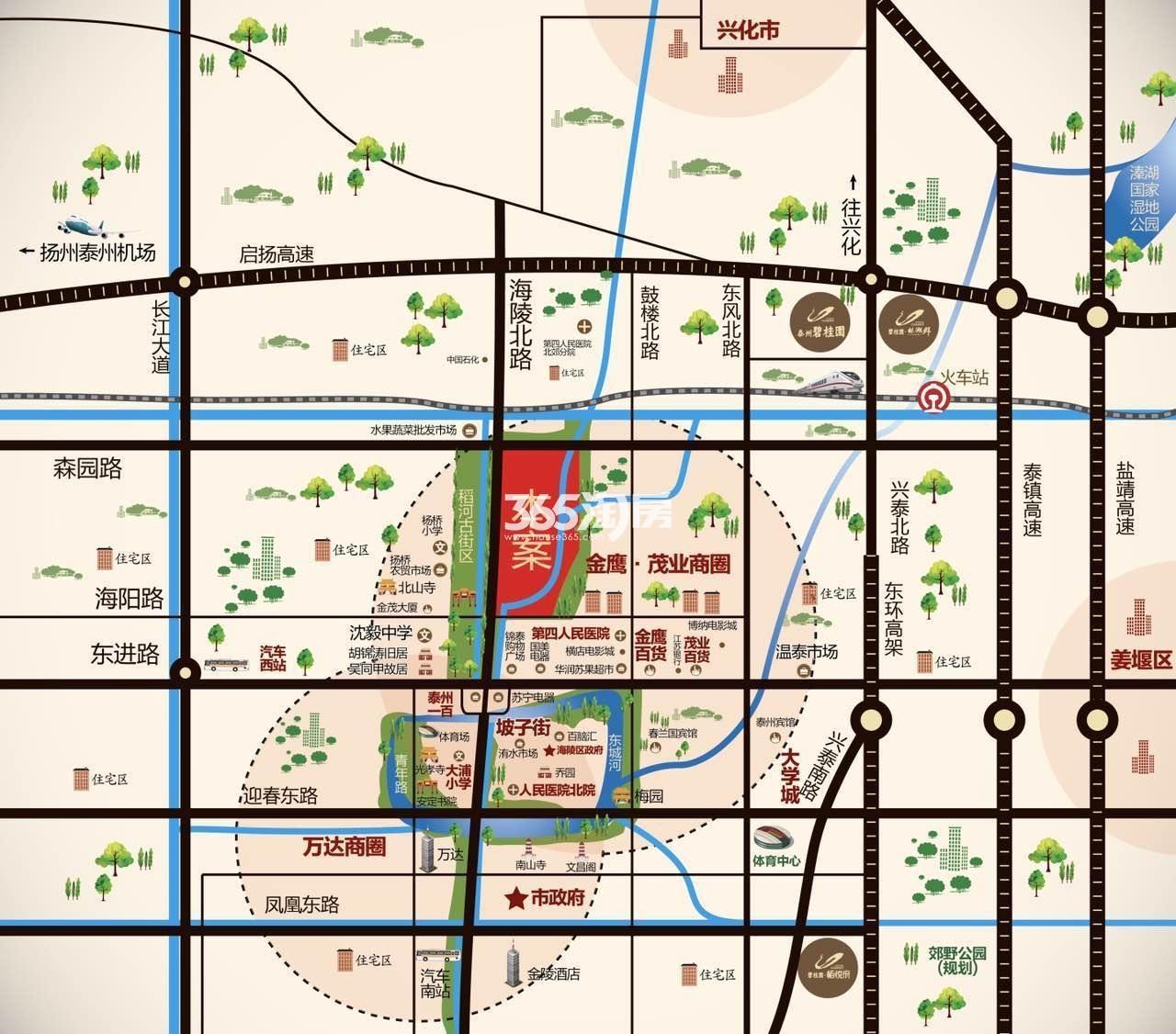 碧桂园-凤城府交通图