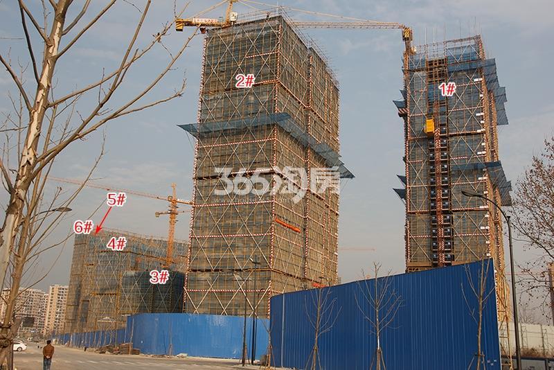 中国铁建西湖国际城1-6号楼实景图(2018.1)