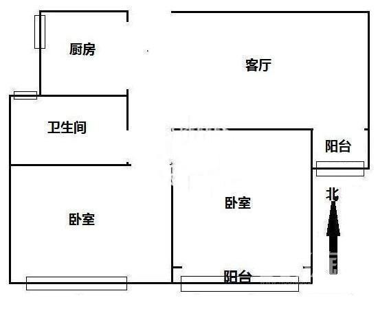 绿地世纪城派克公馆2室2厅1卫87平方产权房毛坯