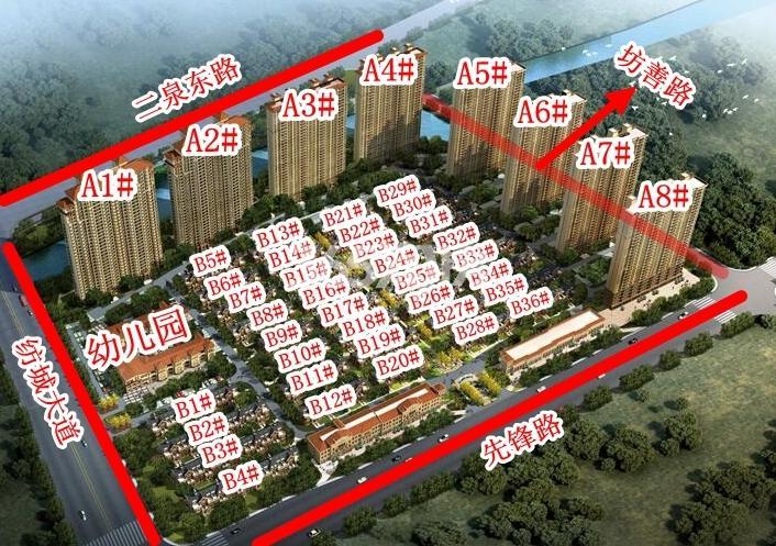 长泰国际社区北地块楼栋分布图
