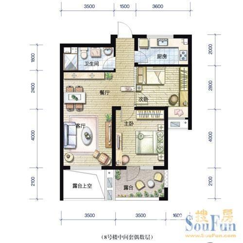 欣盛东方郡3室1厅1卫87平米整租中装