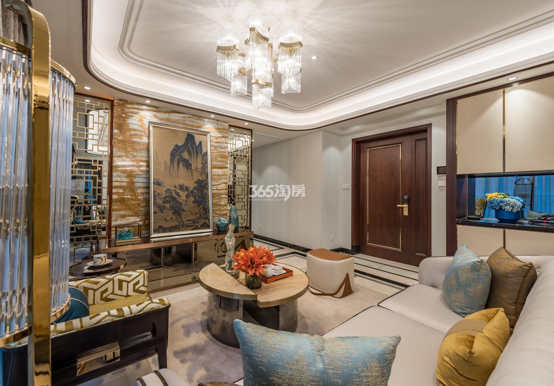 滨江保利翡翠海岸137方(B1户型)亚洲风格样板房---会客室