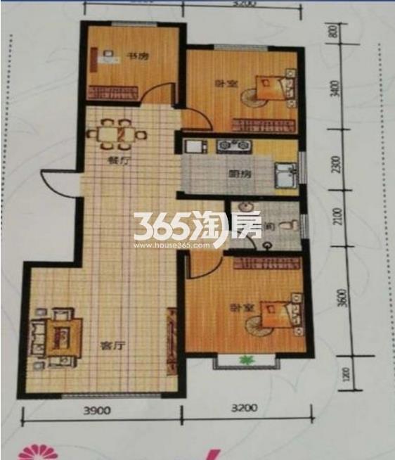 三室两厅一卫 101.52平